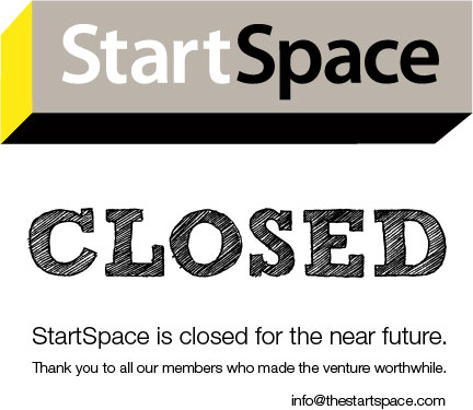 StartSpace is closed for the near future. Thank you to all our members who made the venture worthwhile.